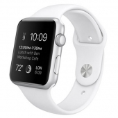 Часы Apple Watch Sport 42mm Silver Aluminum Case with White Sport Band (MJ3N2)