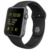 Б/У Apple Watch Sport 42mm Space Gray Aluminum Case with Black Sport Band (MJ3T2) CPO