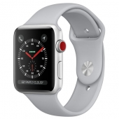NEW Apple Watch Apple Watch Series 3 42mm GPS+LTE Silver Aluminum Case with Fog Sport Band (MQK12)