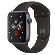 Apple Watch Series 5 GPS 44mm Space Gray Aluminum w. Black b.- Space Gray Aluminum (MWVF2) (O_B)