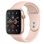 Б/У Apple Watch Series 5 40mm Gold Aluminium Case with Pink Sand Sport Band (MWV72) - Новый, актив, весь комплект
