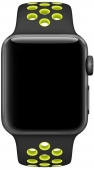 Ремешок Apple Nike Sport Band for Watch 42mm, Black/Volt (MQ2Q2)