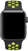 Ремешок Apple Nike Sport Band for Watch 42mm, Black/Volt (MQ2Q2)