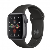 Apple Watch Series 5 LTE 40mm Space Gray Aluminum w. Black b.- Space Gray Aluminum (MWWQ2)
