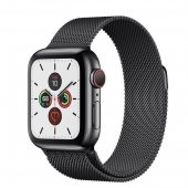 Apple Watch Series 5 LTE 40mm Space Black Steel w. Space Black Milanese Loop - Sp Bl Steel (MWWX2)