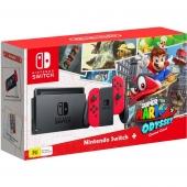 Nintendo Switch Neon Red + Игра Mario Odyssey