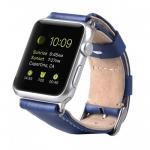 Melkco Premium Leather Strap for Apple Watch 42mm, Blue Split Leather