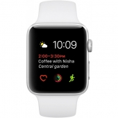 Б/У Apple Watch Series 1 42mm Silver Aluminum Case with White Sport Band (MNNL2)