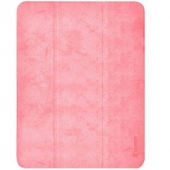Comma Leather Case for iPad Pro 12.9 5th Gen 2021 M1, Pink