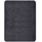 Comma Leather Case for iPad Pro 12.9 5th Gen 2021 M1, Black