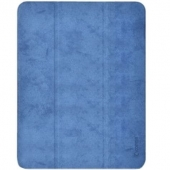 Comma Leather Case for iPad Pro 12.9 5th Gen 2021 M1, Blue