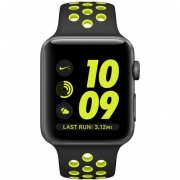 Акция! Apple Watch Nike+ 38mm Space Gray Aluminum Case with Black/Volt Nike Sport Band (MP082)