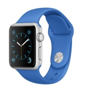 Часы Apple Watch Sport 38mm Silver Aluminum Case with Royal Blue Sport Band (MMF22)