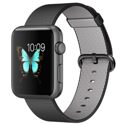 Часы Apple Watch Sport 42mm Space Gray Aluminum Case with Black Woven Nylon (MMFR2)