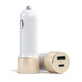 Автомобильное з/у Satechi USB Car Charger with Type C Gold (ST-TCUCCG)