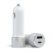 Автомобильное з/у Satechi USB Car Charger with Type C Silver (ST-TCUCCS)
