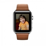 Часы Apple Watch Series 2 38mm Stainless Steel Case with Saddle Brown Classic Buckle (MNP72)