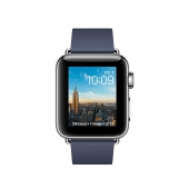 Часы Apple Watch Series 2 38mm Stainless Steel Case with Midnight Blue Modern Buckle - Medium (MNP92)