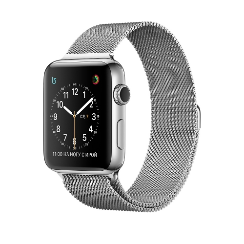 Apple Watch Series 2 38mm Stainless Steel Case with Silver Milanese Loop (MNP62)