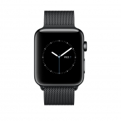 Часы Apple Watch Series 2 38mm Space Black Stainless Steel Case with Space Black Milanese Loop (MNPE2)