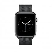 Часы Apple Watch Series 2 38mm Space Black Stainless Steel Case with Space Black Milanese Loop (MNPE2)