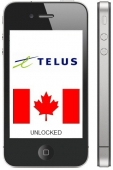 Telus Canada iPhone 3G / 4 / 4S / 5 / 5S / 5C  *CLEAN ESN ONLY*