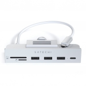 """Satechi USB-C Clamp Hub for 24"""" iMac, Silver (ST-UCICHS)"""
