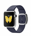 Часы Apple Watch 38mm Stainless Steel with Midnight Blue Modern Buckle (MJ332)