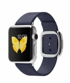 Часы Apple Watch 38mm Stainless Steel with Midnight Blue Modern Buckle