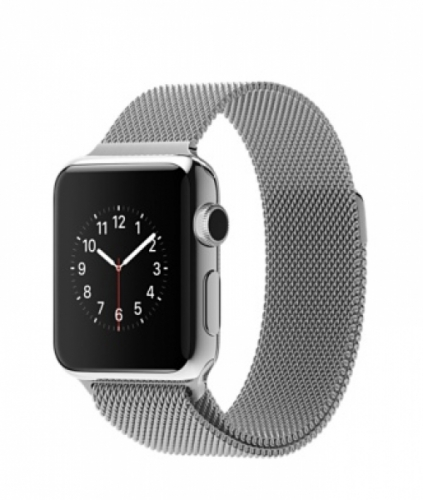 Часы Apple Watch 38mm Stainless Steel with Milanese Loop (MJ322)