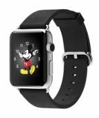 Б/У Apple Watch 42mm Stainless Steel with Black Classic Buckle (MJ3X2)