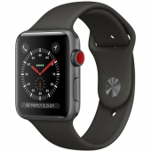 Б/У Apple Watch Series 3 GPS 38mm Space Gray Aluminum with Gray Sport Band (MR352) -- как новый, на гарантии