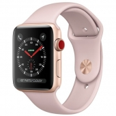 NEW Apple Watch Series 3 GPS 42mm Gold Aluminum with Pink Sand Sport Band (MQL22)