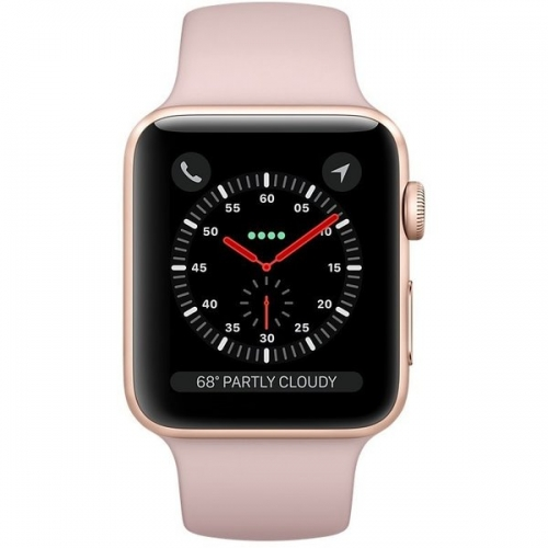 Б/У Apple Watch Series 3 GPS 38mm Gold Aluminum with Pink Sand Sport Band (MQKW2)