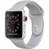 NEW Apple Watch Series 3 GPS 42mm Silver Aluminum with Fog Sport Band (MQL02)