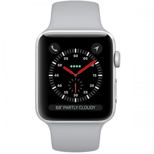 Б/У Apple Watch Series 3 GPS 38mm Silver Aluminum Case with Fog Sport Band (MQKU2) -- Как Новый, на гарантии