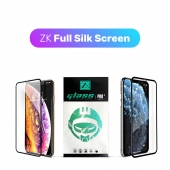 Защитное 3D стекло ZK Protection Glass for iPhone 11 Pro Max/Xs Max Full Silk Screen 0.26mm + Back Film, Black