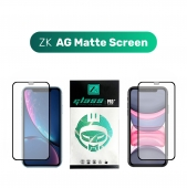 Защитное 3D стекло ZK Protection Glass for iPhone 11/Xr 2.5D AG Matte Screen 0.26mm + Back Film, (Black)