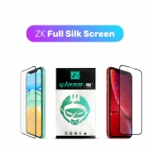 Защитное 3D стекло ZK Protection Glass for iPhone 11/Xr Full Silk Screen 0.26mm + Back Film, Black