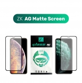 Защитное 3D стекло ZK Protection Glass for iPhone 11 Pro Max/Xs Max 2.5D AG Matte Screen 0.26mm + Back Film, (Black)