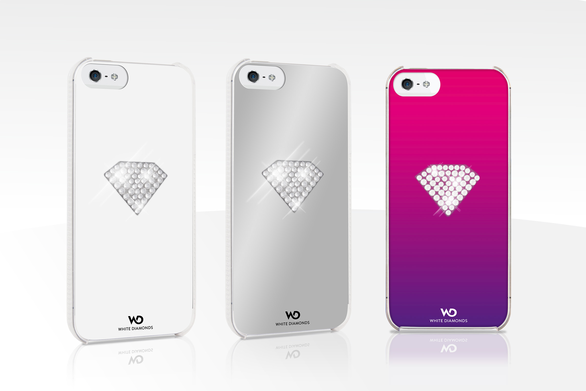 Накладка White Diamonds Rainbow for iPhone 5/5S