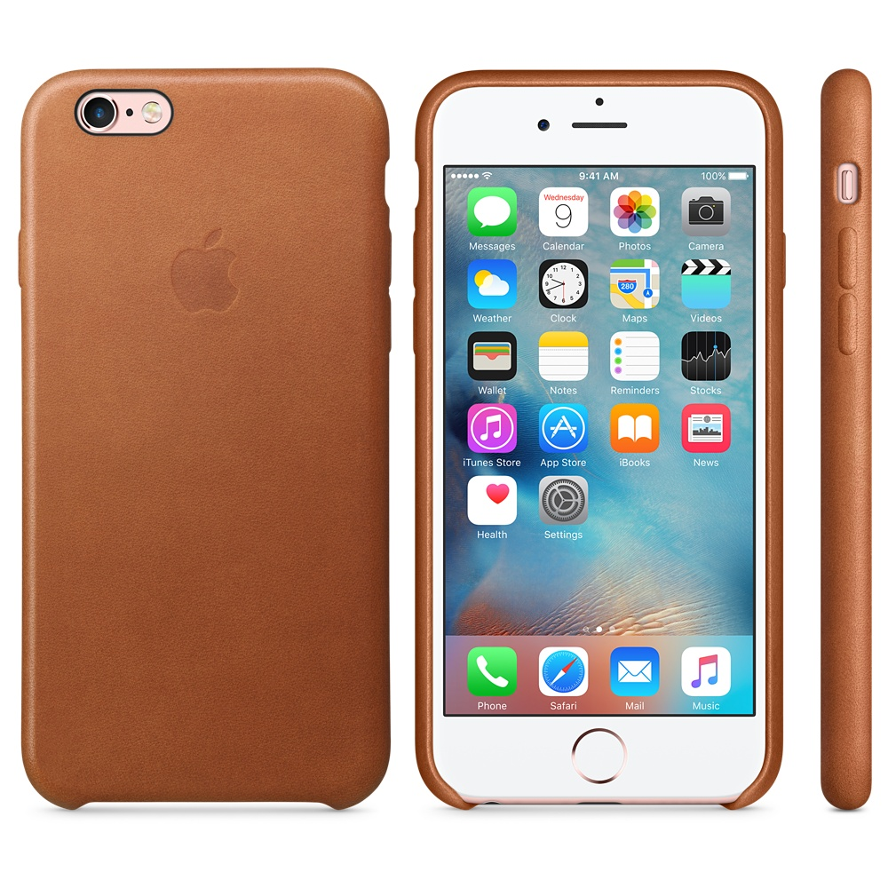 Чехол Apple Leather Case for iPhone 6S Saddle Brown