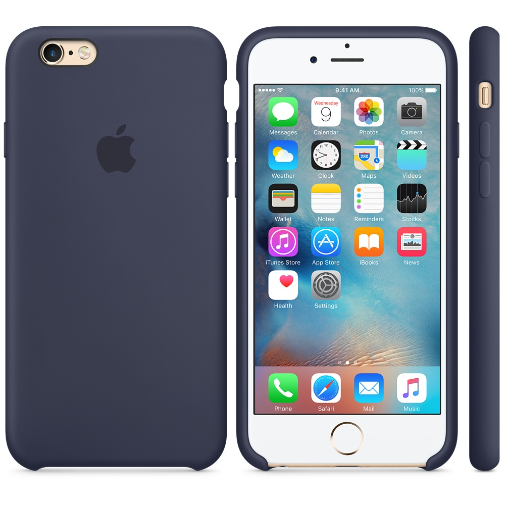 Чехол Apple Silicone Case for iPhone 6S синий