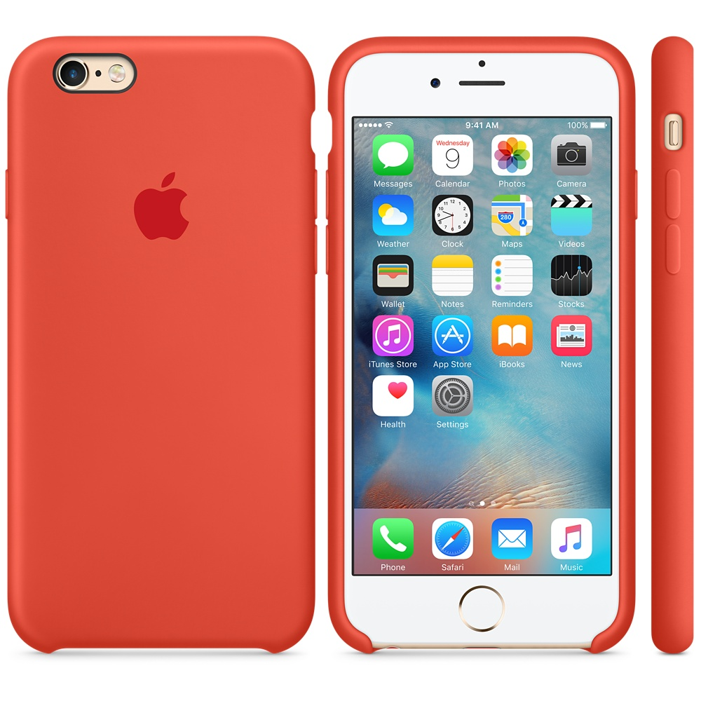 Чехол Apple Silicone Case for iPhone 6S orange