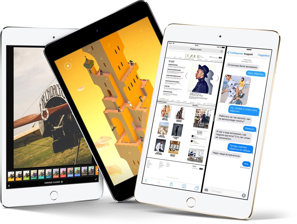 iPad mini 4 Wi-Fi 16Gb (Gold) характеристики
